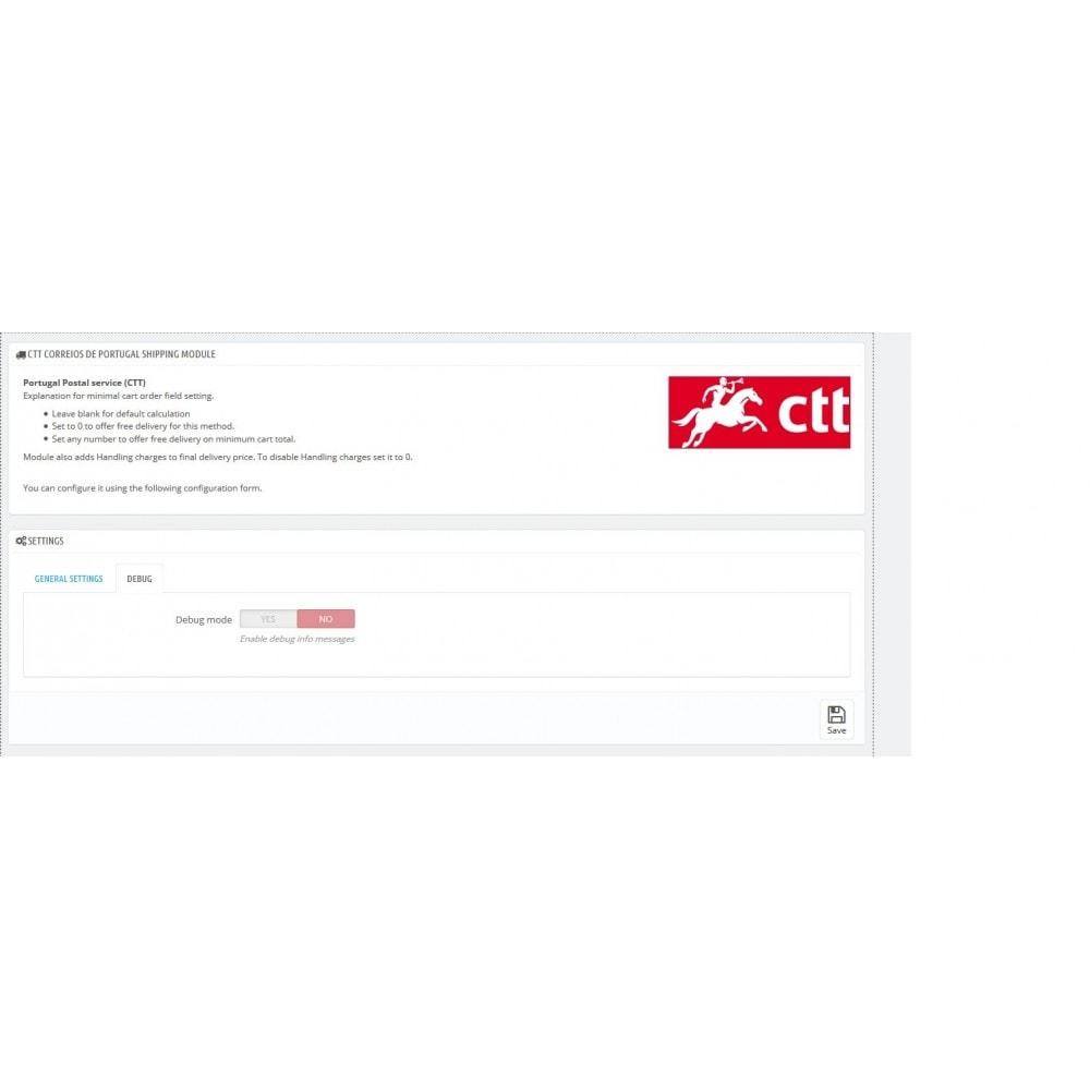 module - Перевозчики - Portugal Post (CTT) - 2