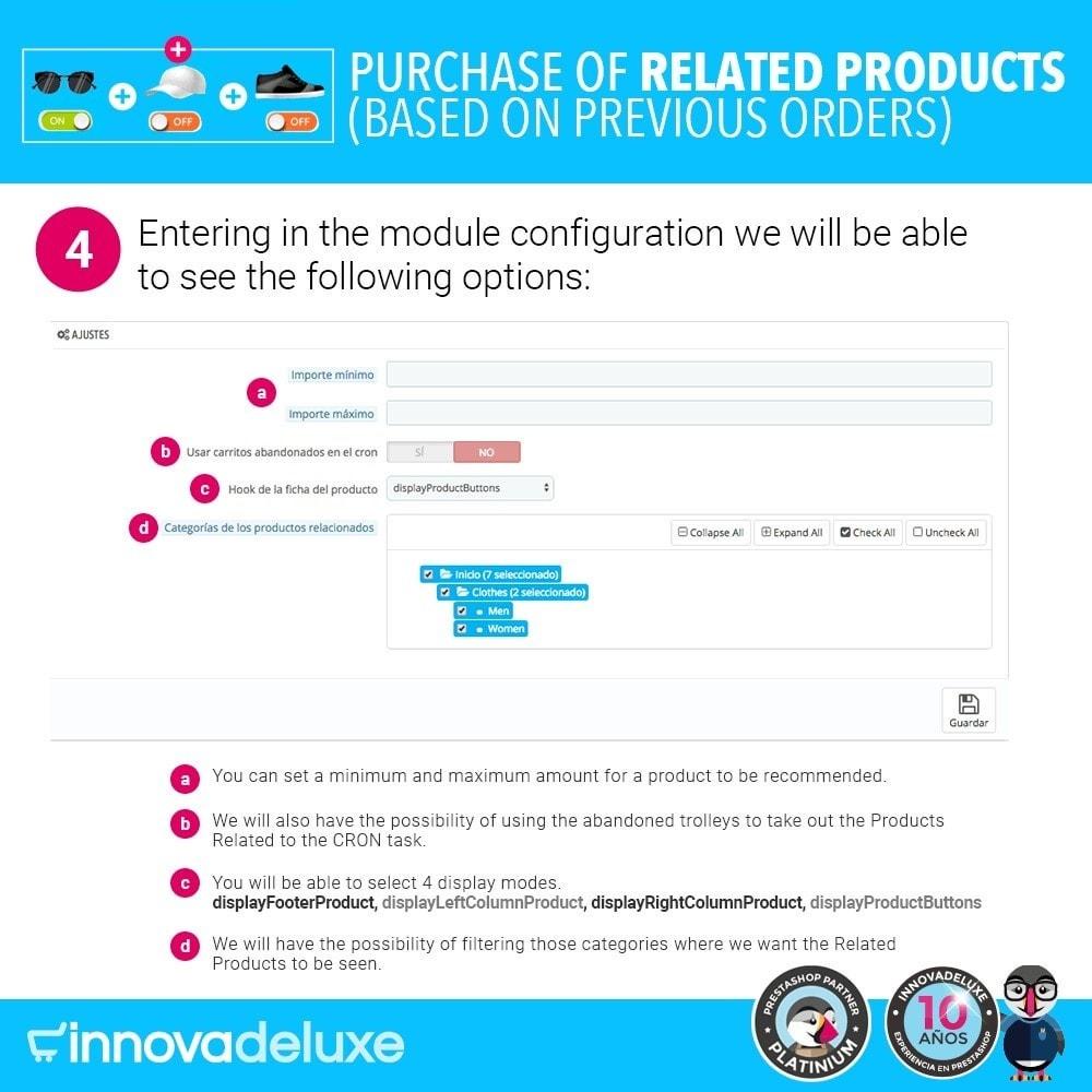 module - Перекрестные продажи и Создание комплектов - Purchase of related products based on previous orders - 8