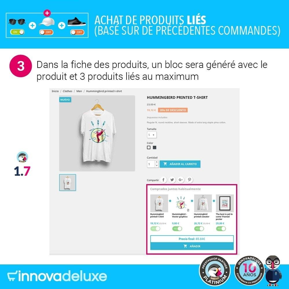 module - Ventes croisées & Packs de produits - Achat de produits liés selon les commandes précédentes - 6