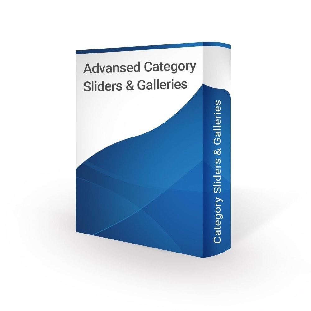 module - Слайдеров (карусельных) и галерей - Home Category Slider & Gallery - 1