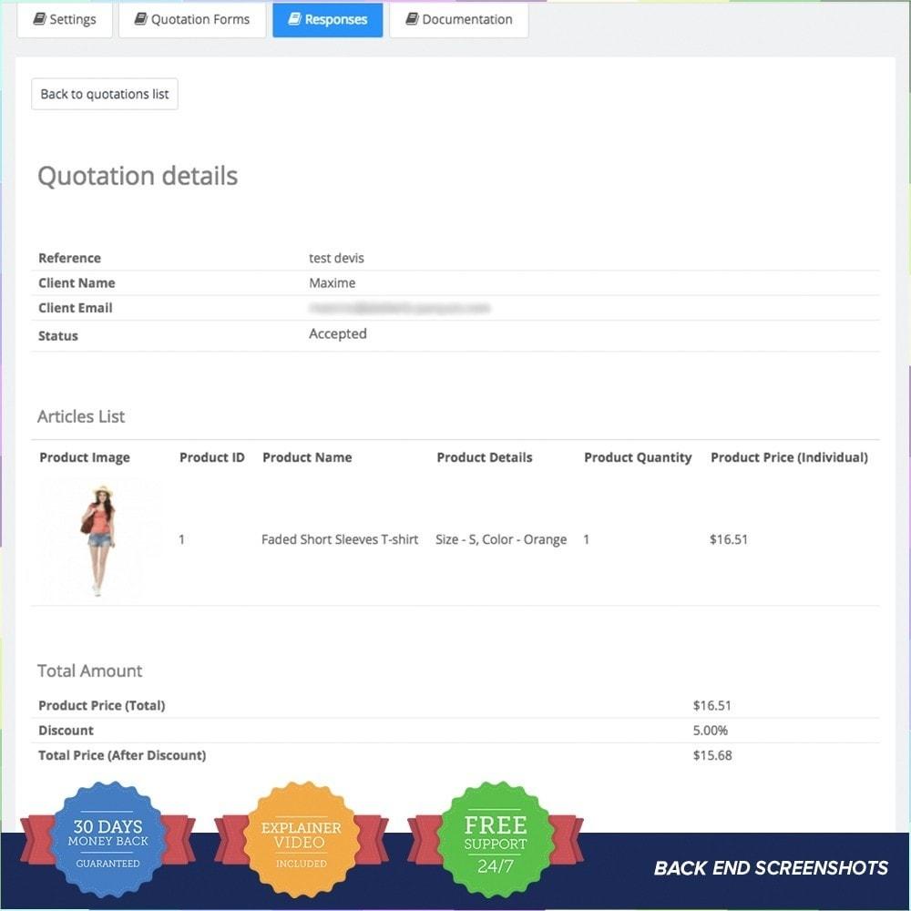 module - Presupuestos - Cotización en línea - 8