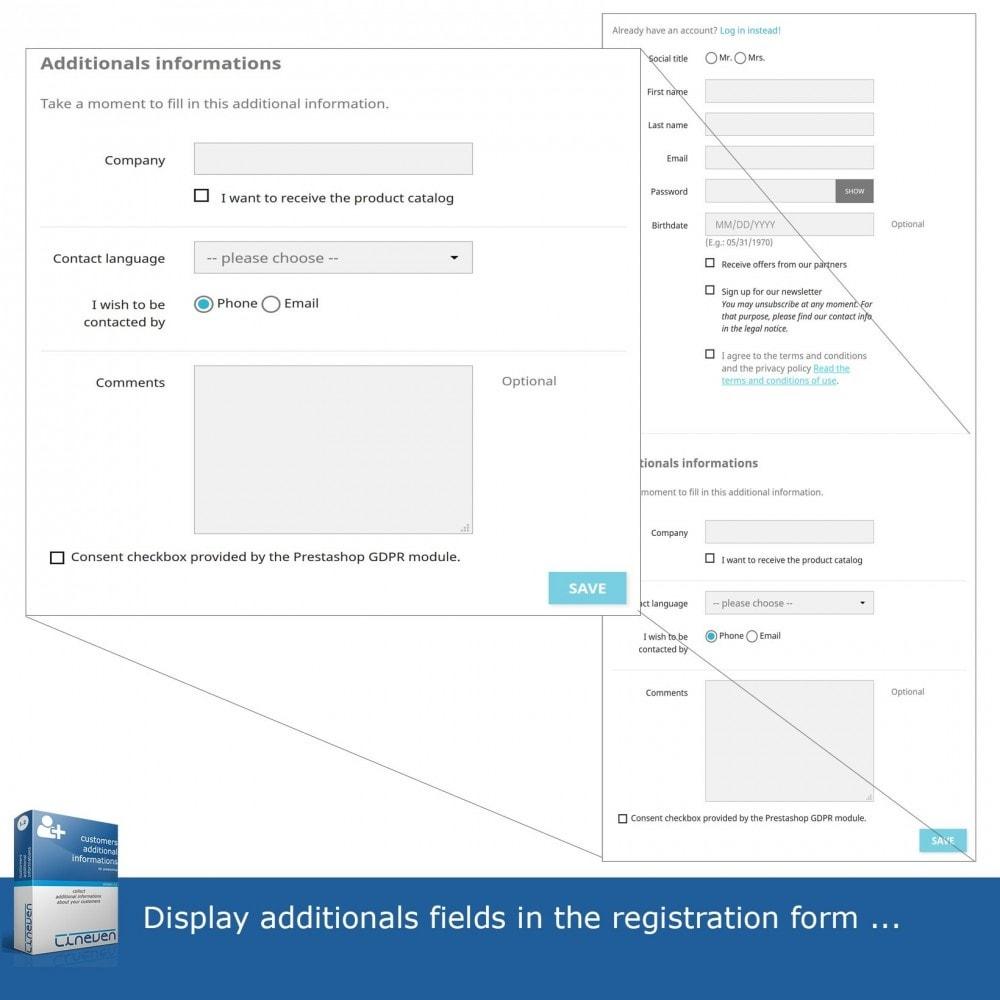 module - Iscrizione e Processo di ordinazione - Customers Additional Informations - 2