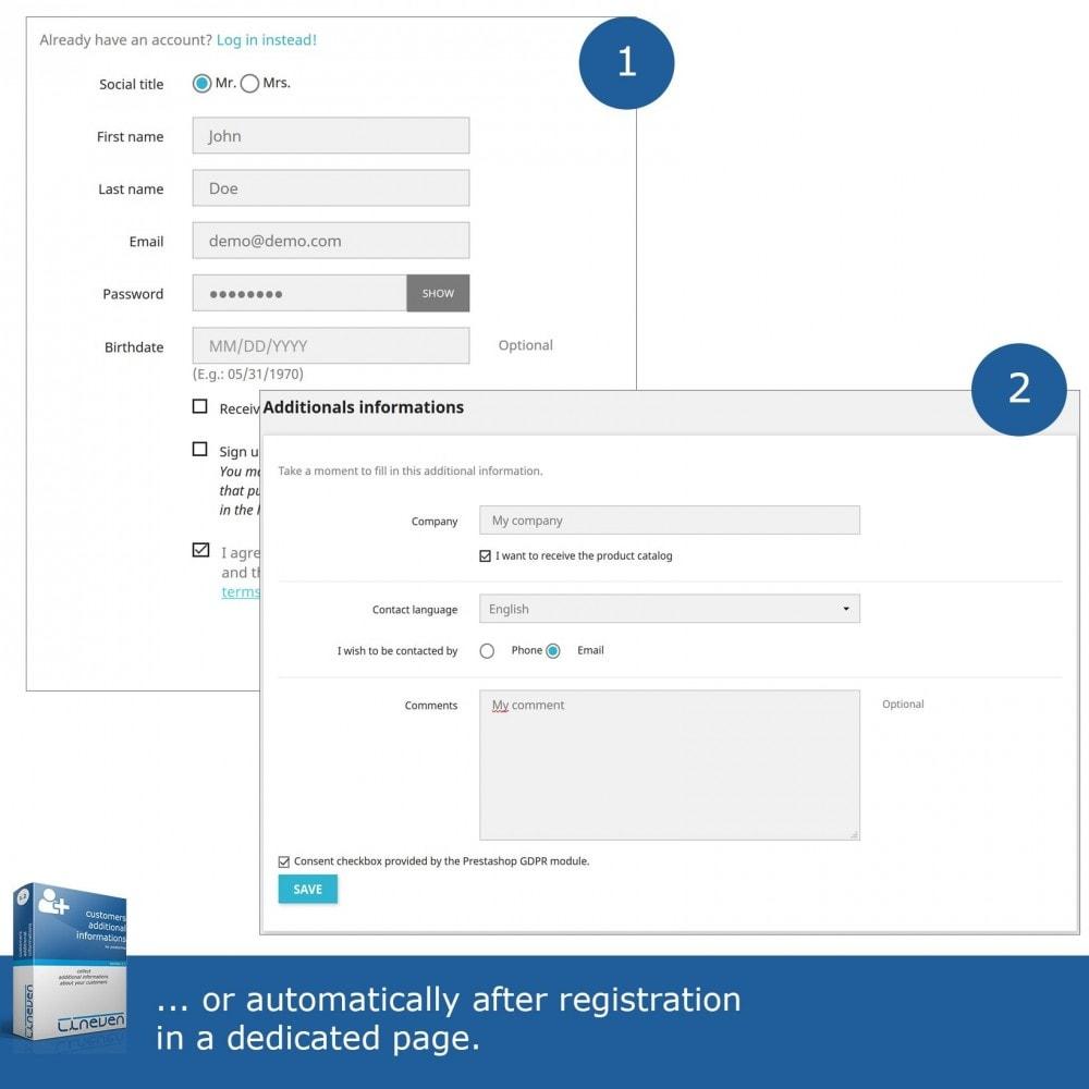 module - Iscrizione e Processo di ordinazione - Customers Additional Informations - 3