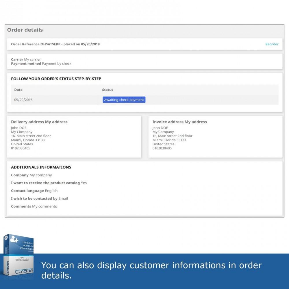 module - Iscrizione e Processo di ordinazione - Customers Additional Informations - 6