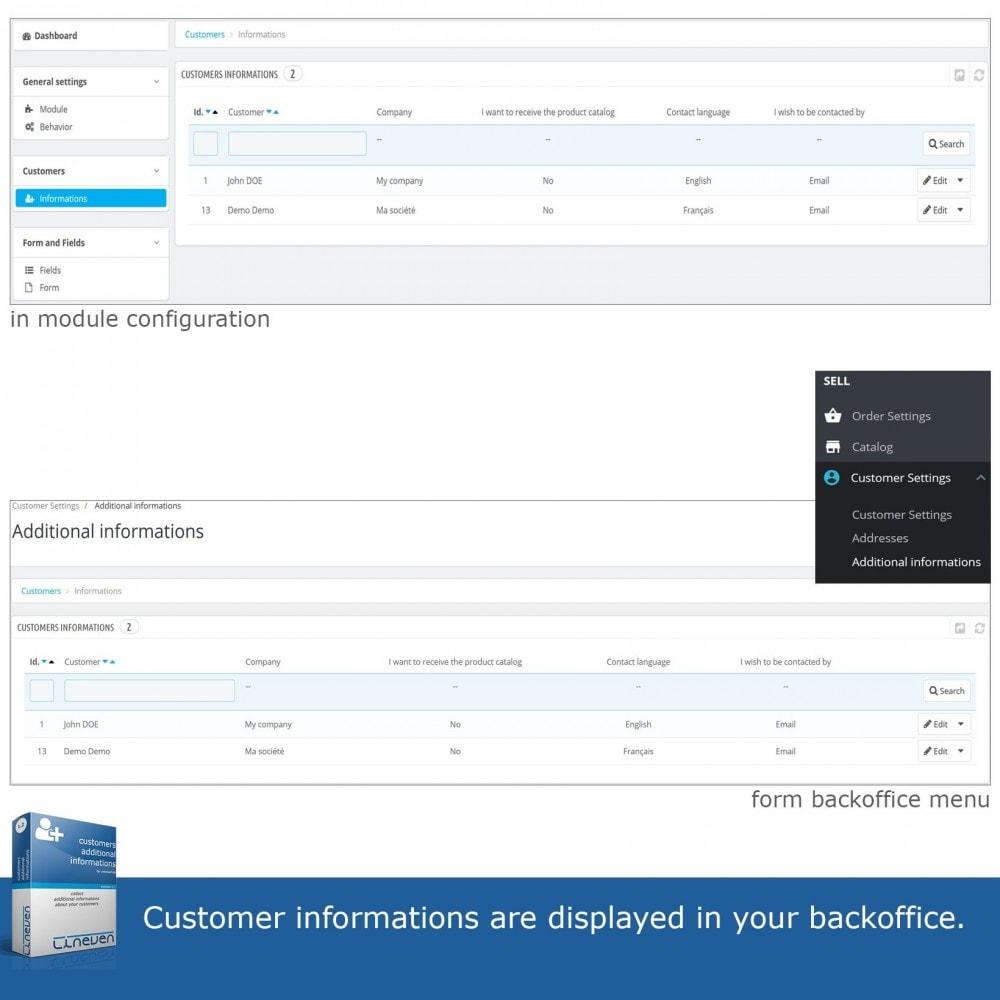 module - Iscrizione e Processo di ordinazione - Customers Additional Informations - 7