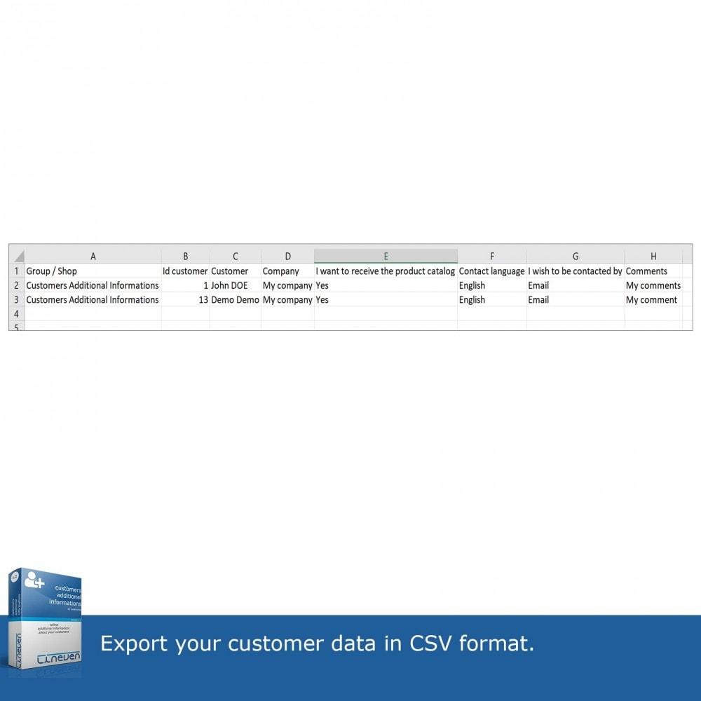 module - Iscrizione e Processo di ordinazione - Customers Additional Informations - 10
