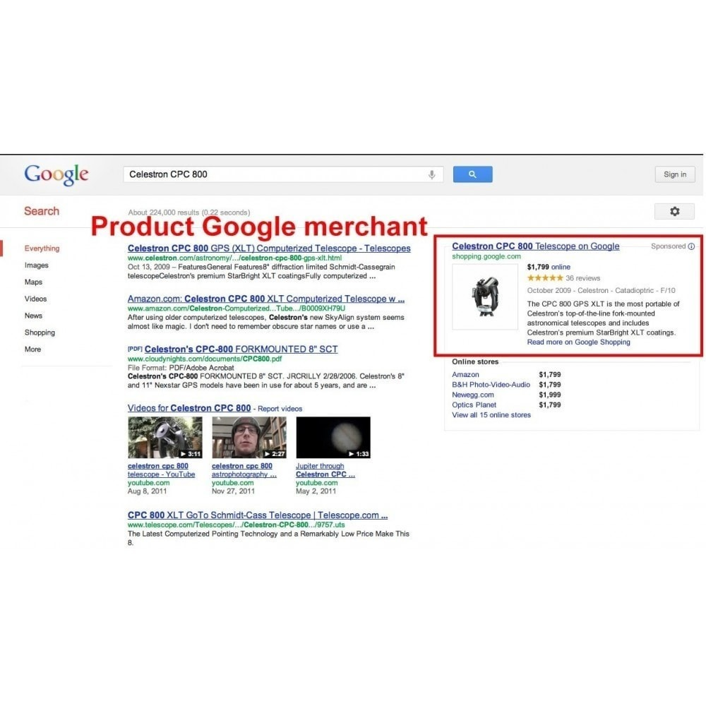 module - Price Comparison - Export products to Google Merchants ( Google Shopping) - 3