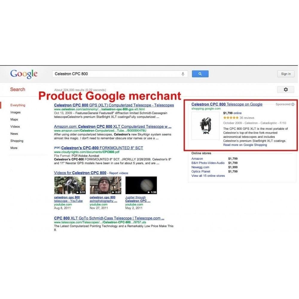 module - Comparateurs de prix - Exporter des produits dans Google Merchant Shopping - 3