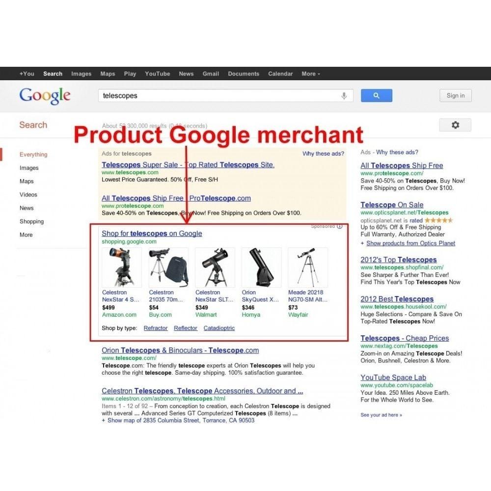 module - Comparadores de Precios - Exportar productos a Google Merchants (Google Shopping) - 2