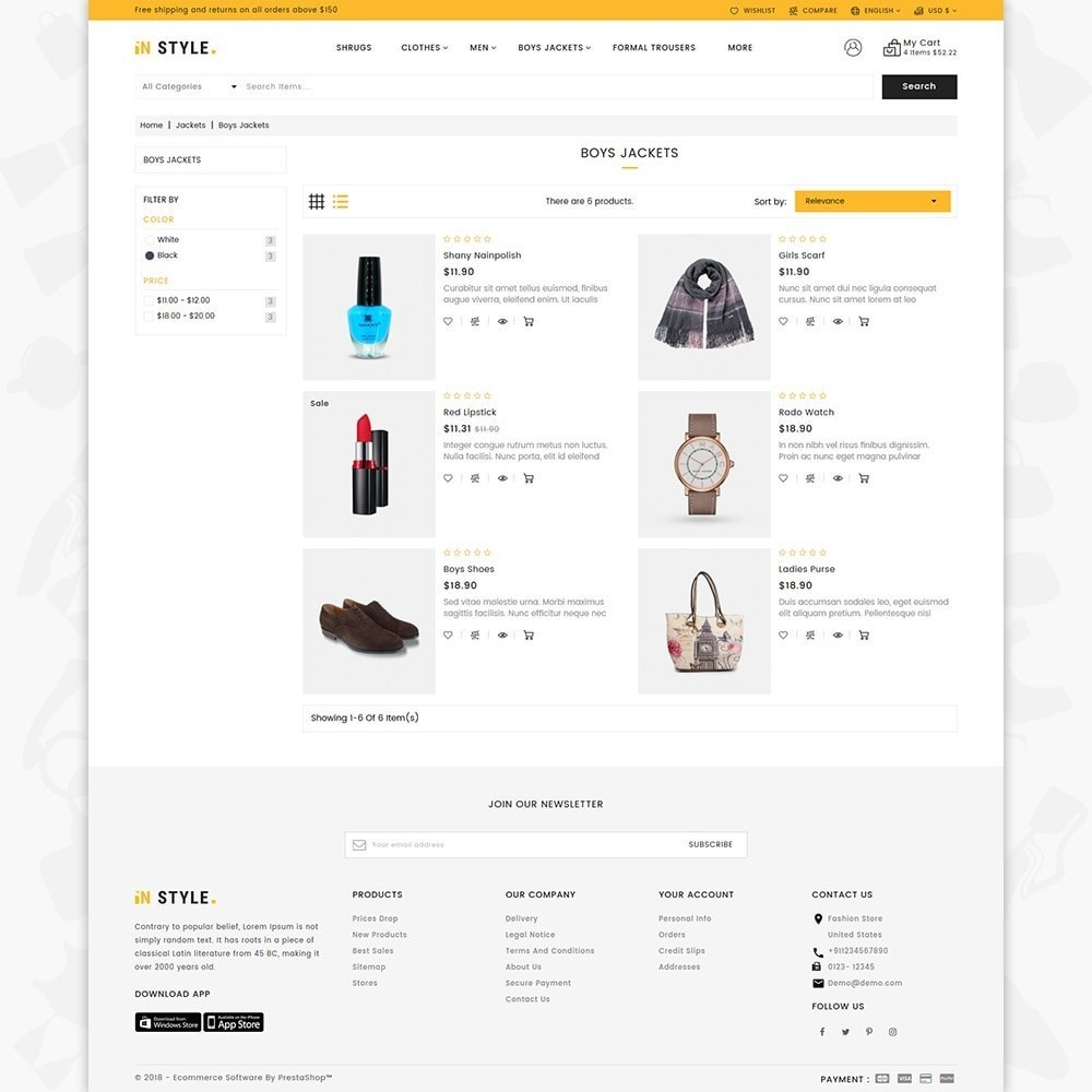theme - Fashion & Shoes - InStyle Shop Store - 3