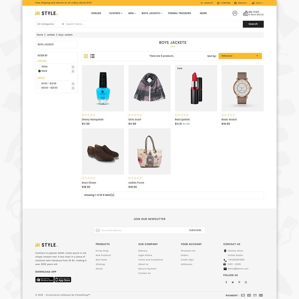 theme - Fashion & Shoes - InStyle Shop Store - 4