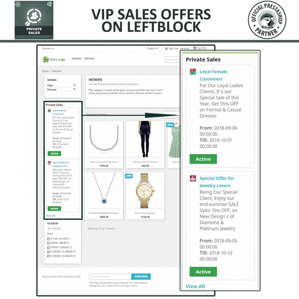 module - Flash & Private Sales - Private Category & Private Sale for VIP Customer Groups - 3