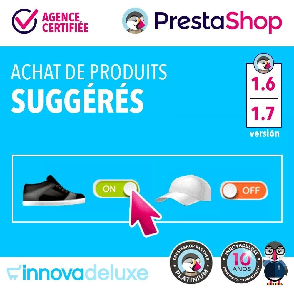 module - Ventes croisées & Packs de produits - Produits suggérés pour l'achat impulsif - 1