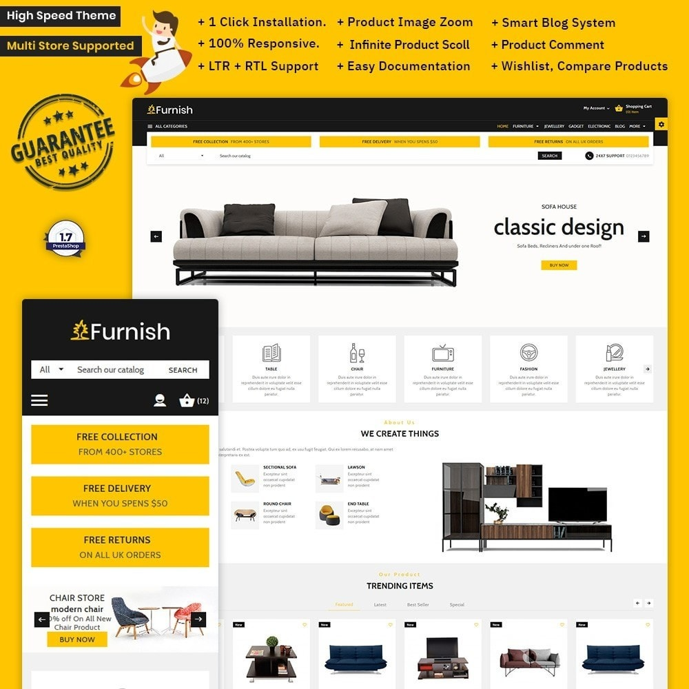 theme - Home & Garden - Furnish – Furniture Large Store - 1
