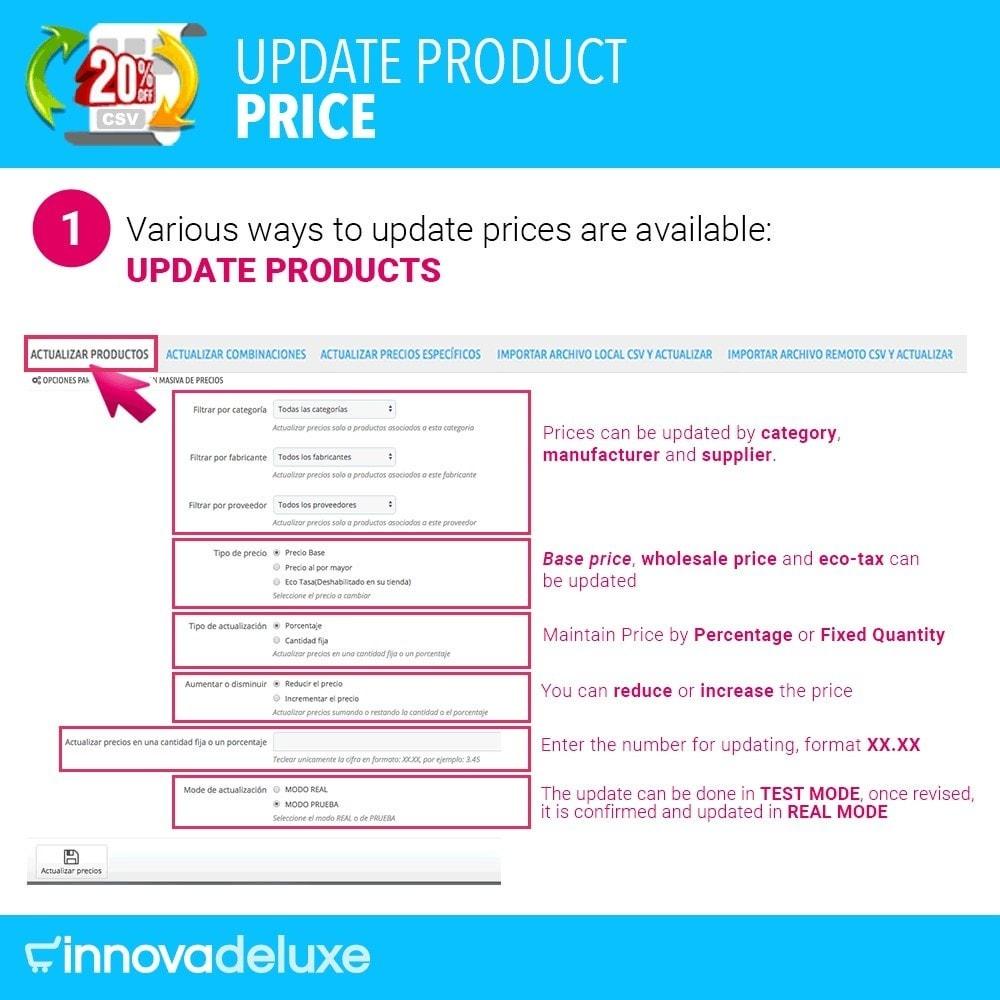 module - Быстрое & массовое редактирование - Product Price Updater - 2