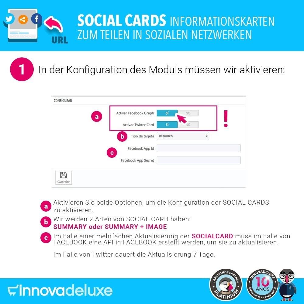module - Teilen & Kommentieren - SocialCards, Karten zum Teilen in sozialen Netzwerken - 2