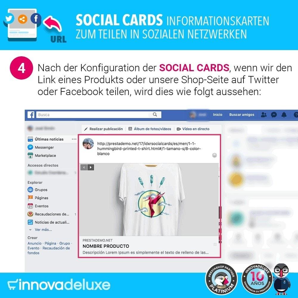module - Teilen & Kommentieren - SocialCards, Karten zum Teilen in sozialen Netzwerken - 5