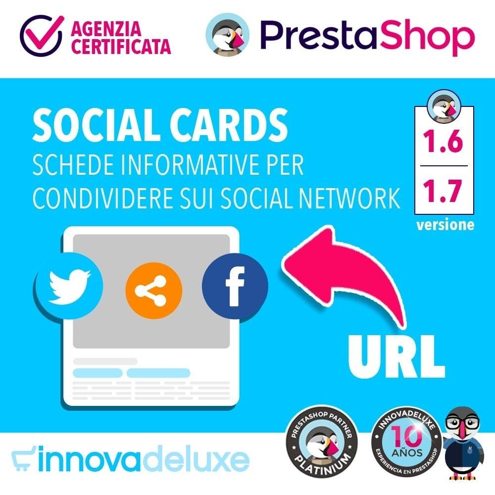 module - Pulsanti di condivisione & Commenti - SocialCards, schede per condividere sui social network - 1