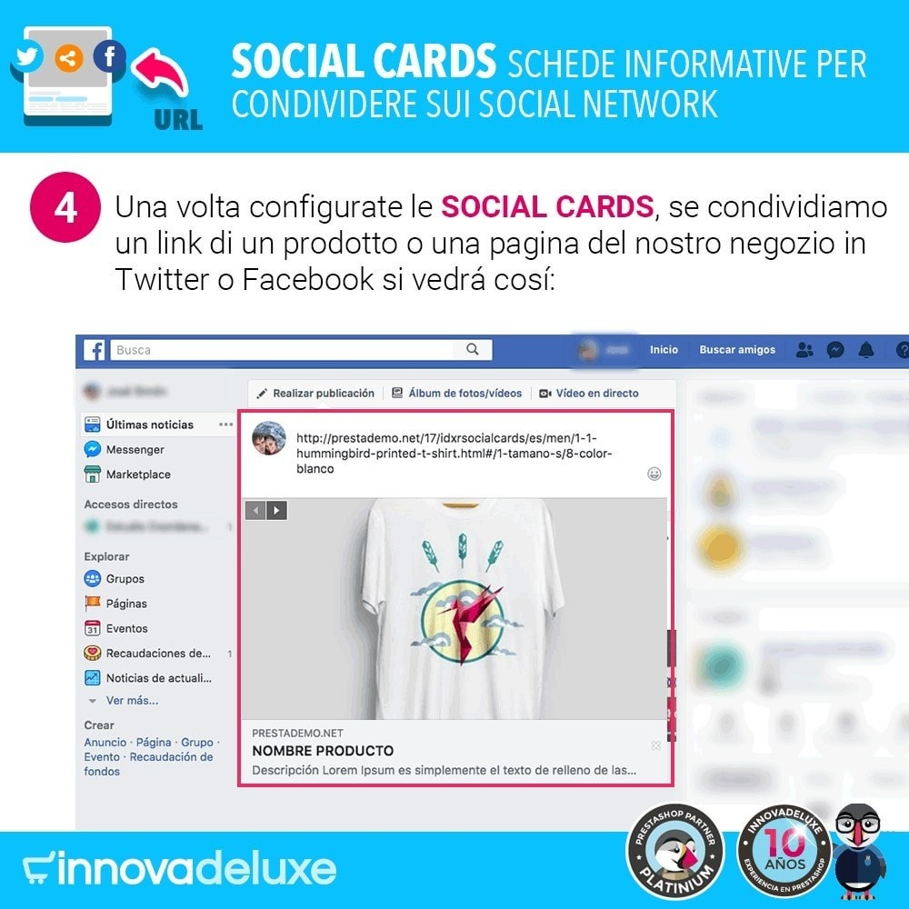 module - Pulsanti di condivisione & Commenti - SocialCards, schede per condividere sui social network - 5