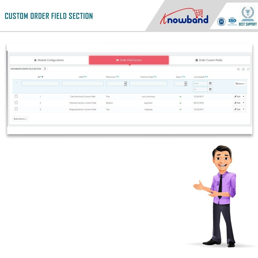 module - Registration & Ordering Process - Knowband - Additional Order Forms/Field Manager - 5