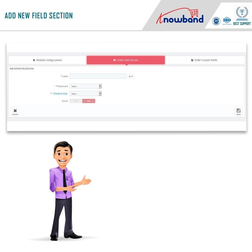 module - Registration & Ordering Process - Knowband - Additional Order Forms/Field Manager - 6