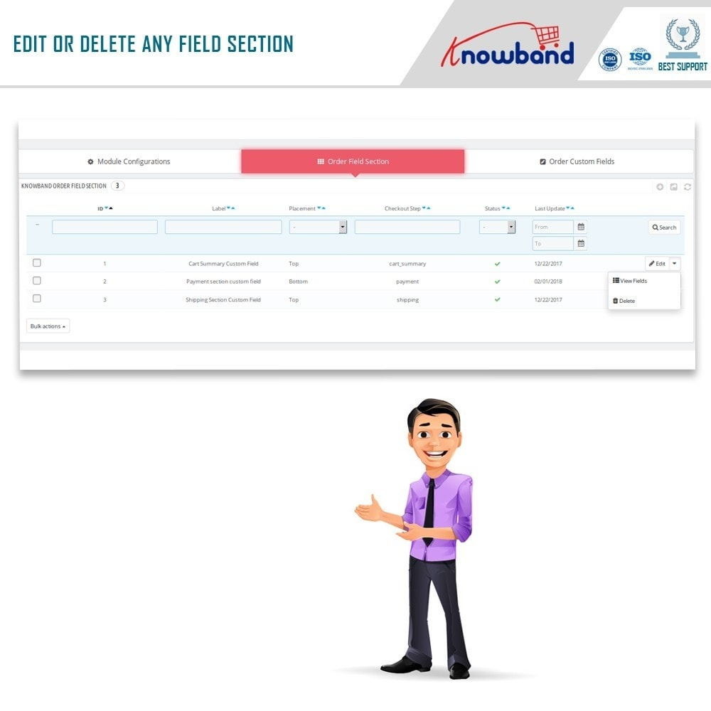 module - Registration & Ordering Process - Knowband - Additional Order Forms/Field Manager - 7
