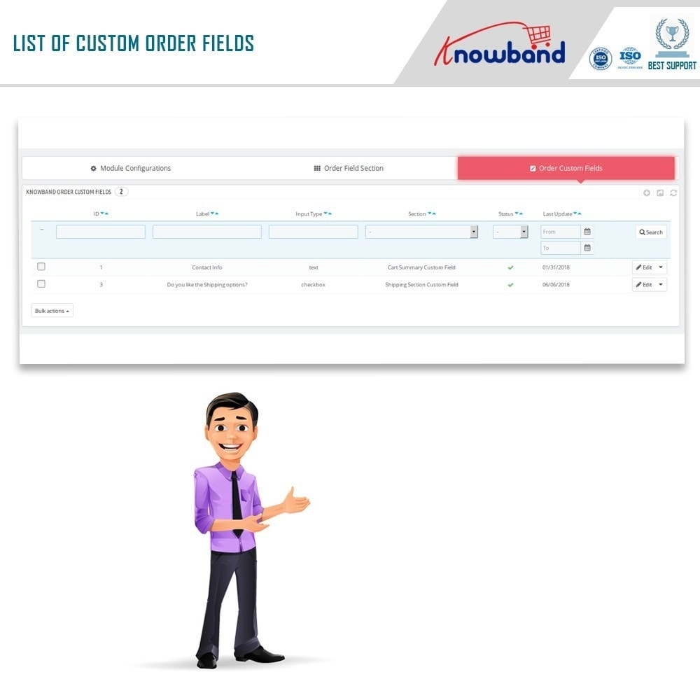 module - Registration & Ordering Process - Knowband - Additional Order Forms/Field Manager - 8