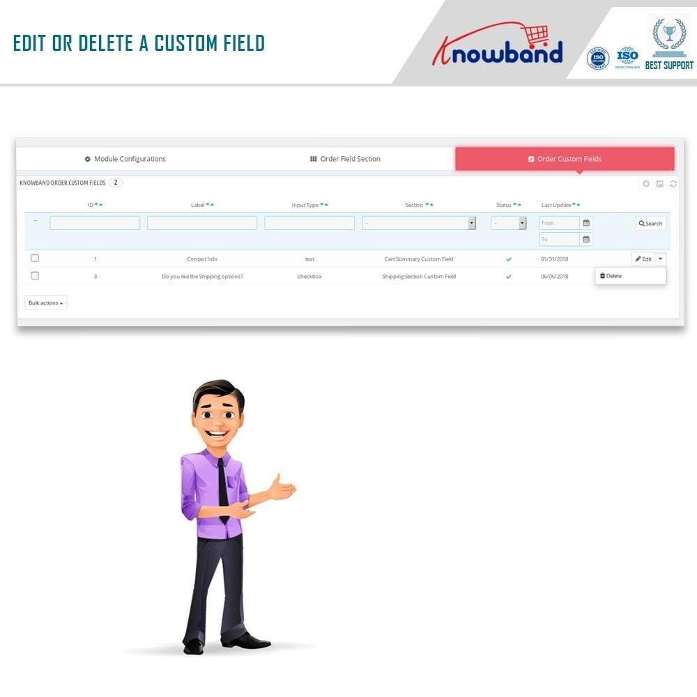 module - Registration & Ordering Process - Knowband - Additional Order Forms/Field Manager - 10