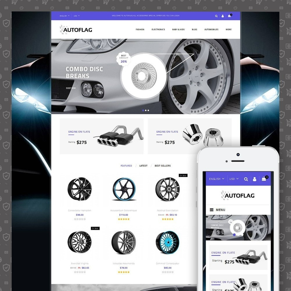 theme - Automotive & Cars - AutoFlag Store - 1