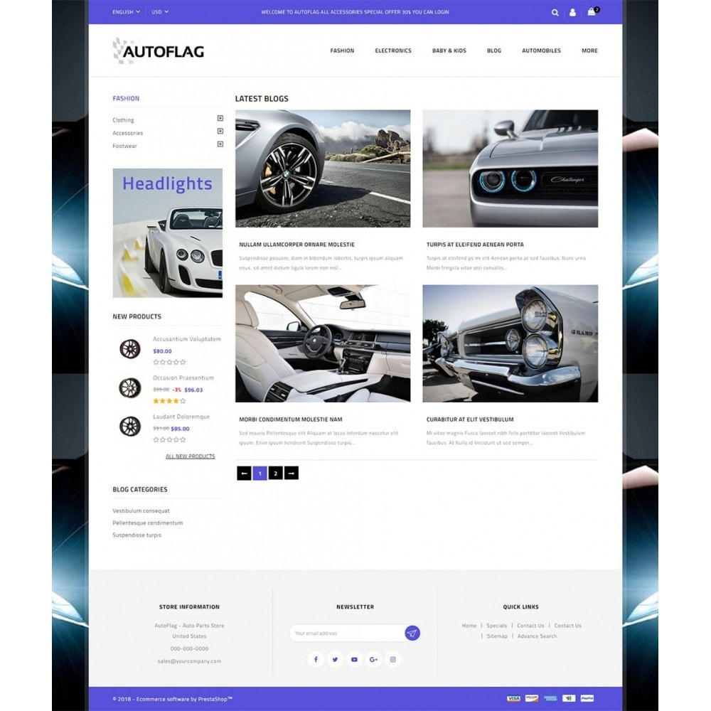 theme - Automotive & Cars - AutoFlag Store - 9