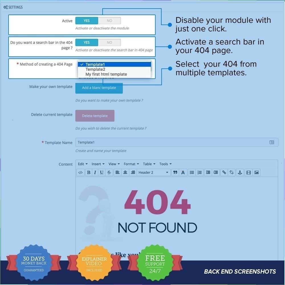 module - Personalizzazione pagine - Personalizzato 404 Page - 4