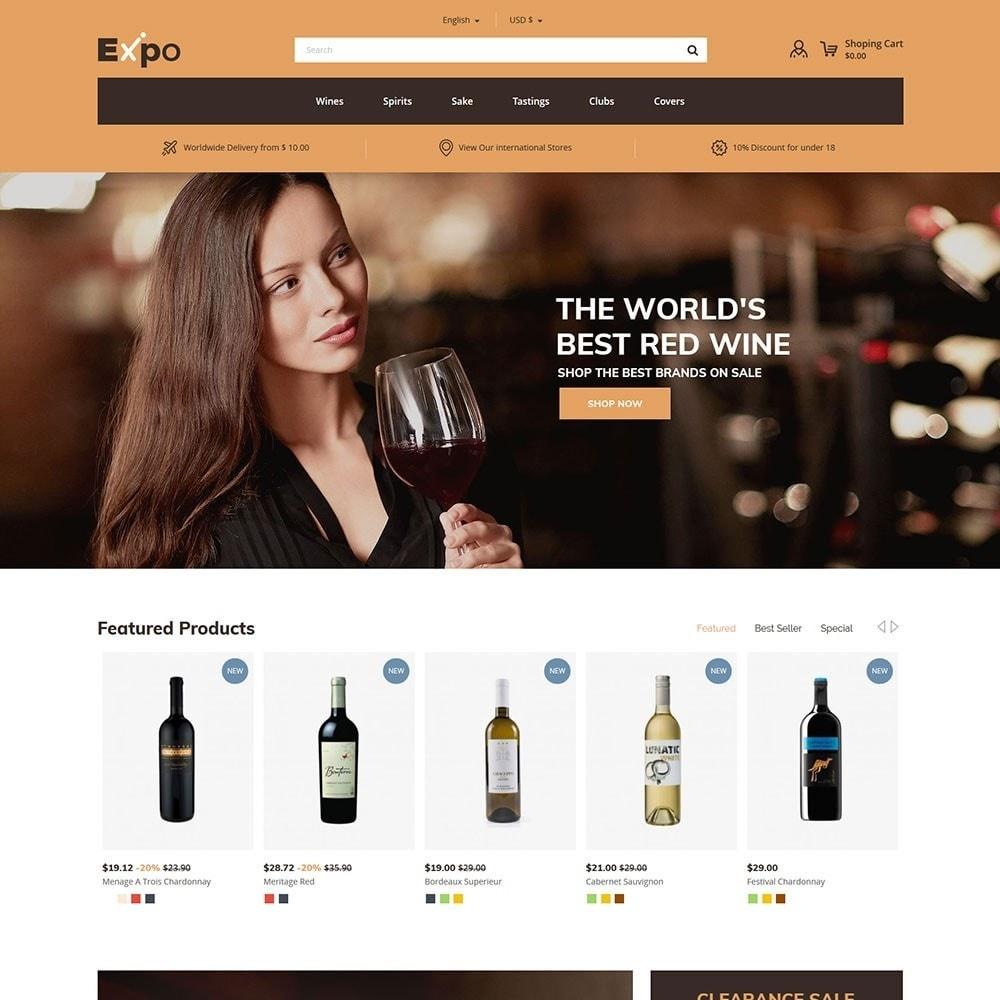 theme - Drink & Tobacco - Expo - Wine Store - 3