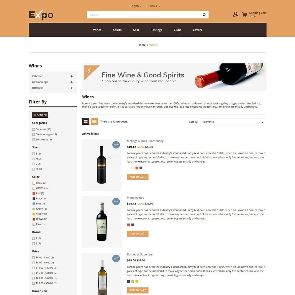 theme - Drink & Tobacco - Expo - Wine Store - 4