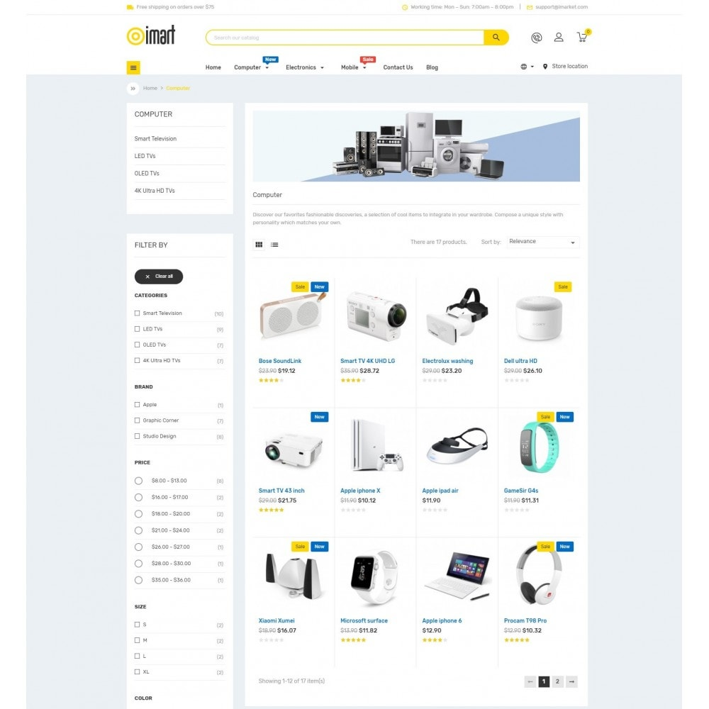 theme - Eletrônicos & High Tech - iMart Supermarket Store - 5
