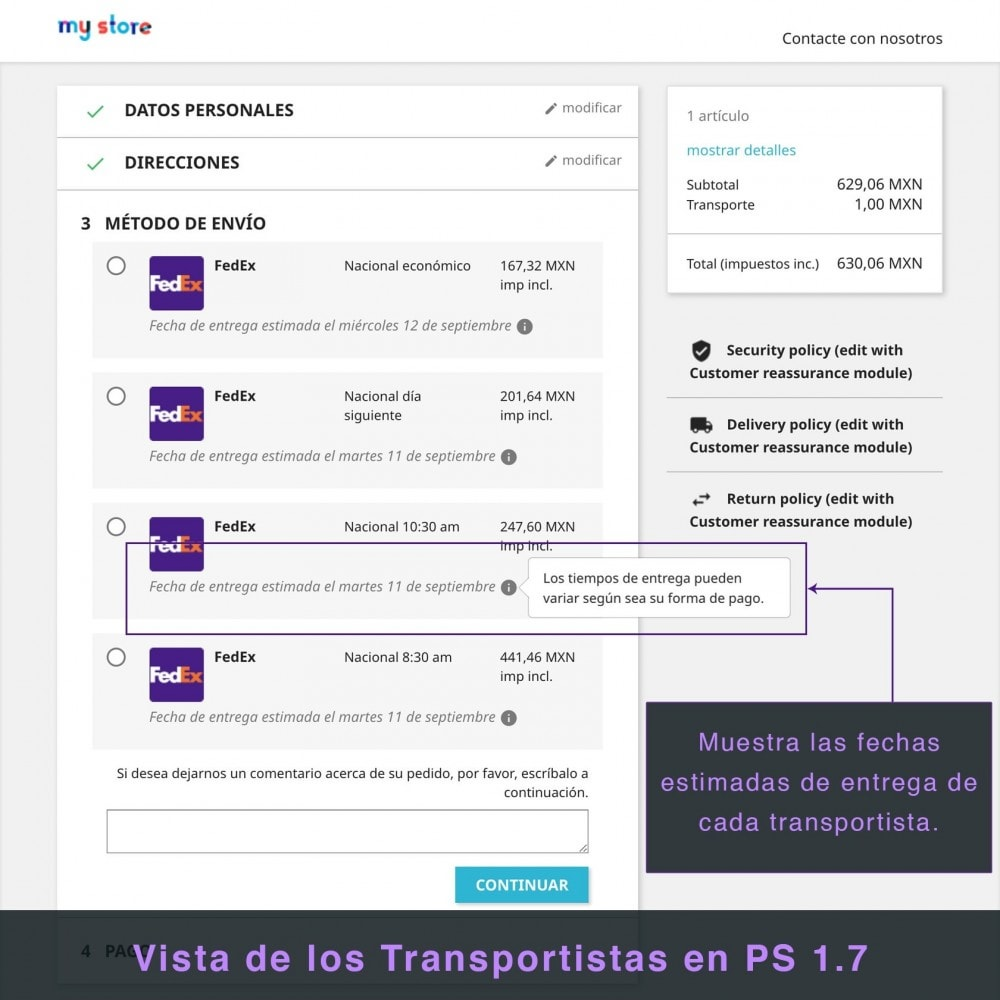 module - Transportistas - FedEx - 6