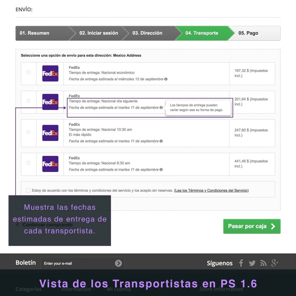 module - Transportistas - FedEx - 7