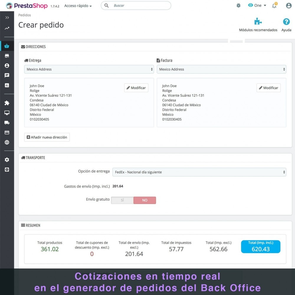 module - Transportistas - FedEx - 8