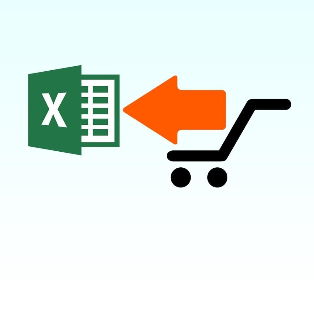 module - Importación y Exportación de datos - Importar producto desde Microsoft Excel - 1