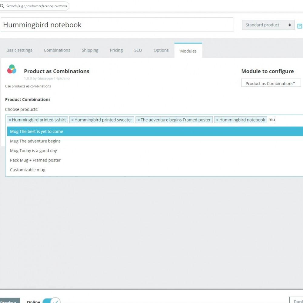 module - Combinazioni & Personalizzazione Prodotti - Prodotti Normali come Combinazioni - 3