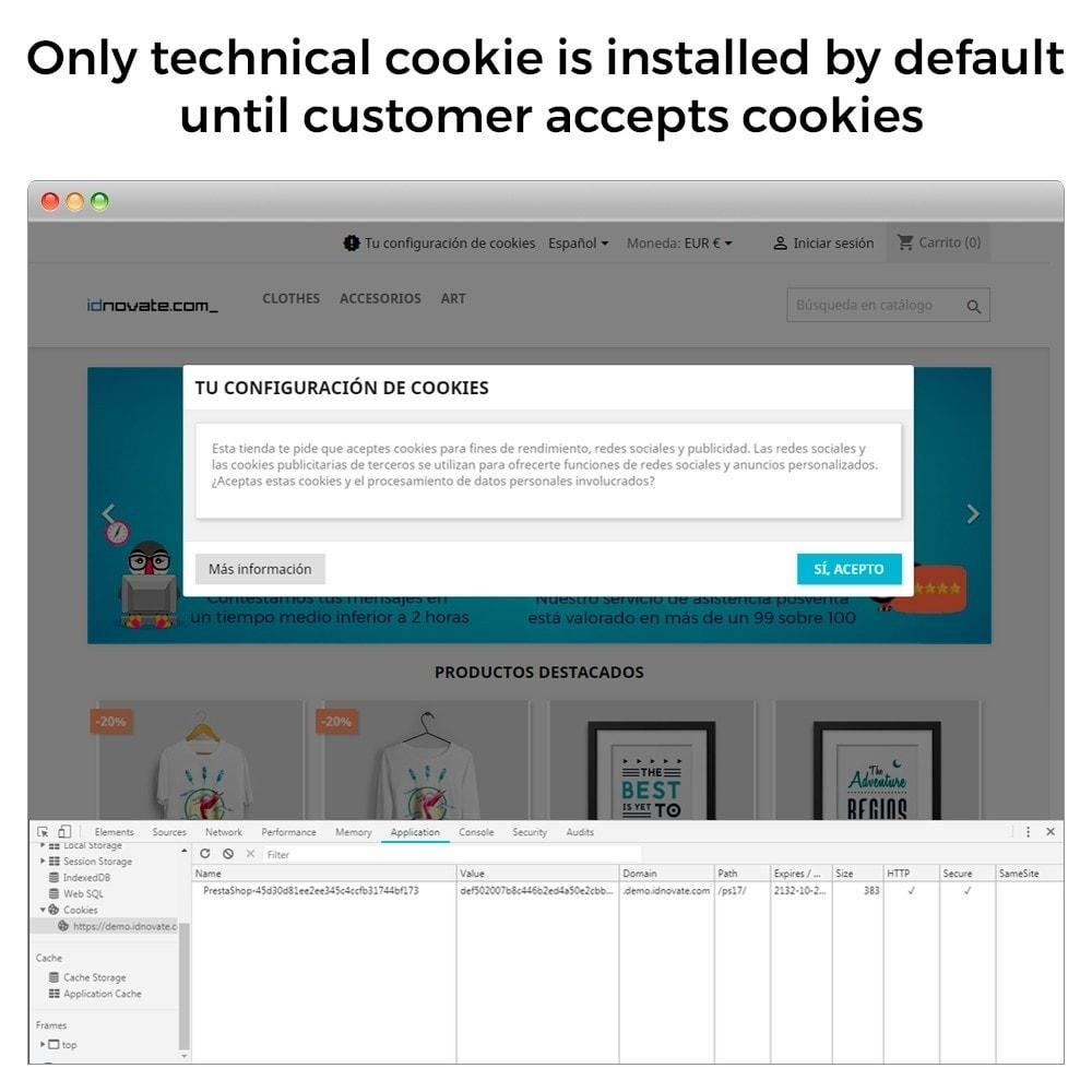 module - Juridisch - GDPR Cookies law (block 3rd party cookies) - GeoIP - 5