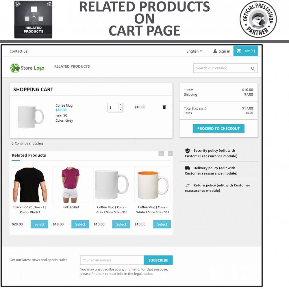 module - Vendas cruzadas & Pacotes de produtos - Related Products: Advance Related Products - 4