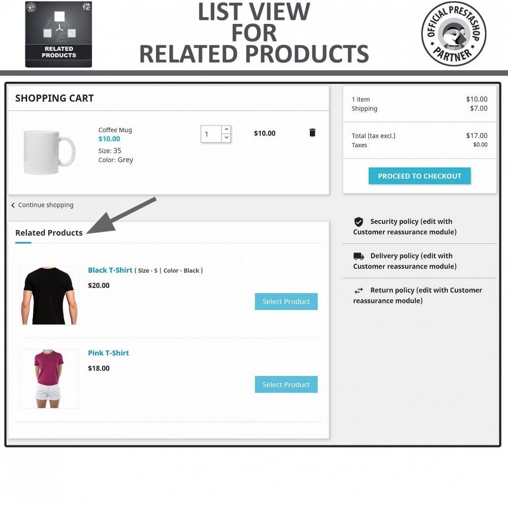 module - Vendas cruzadas & Pacotes de produtos - Related Products: Advance Related Products - 5