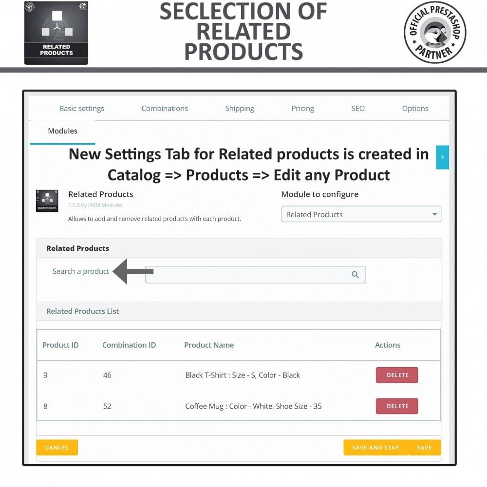 module - Vendas cruzadas & Pacotes de produtos - Related Products: Advance Related Products - 10