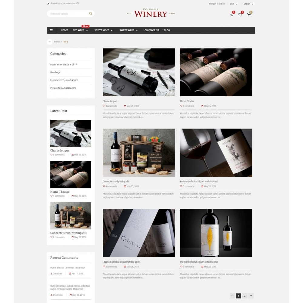 theme - Drink & Tobacco - Winery Store - 5