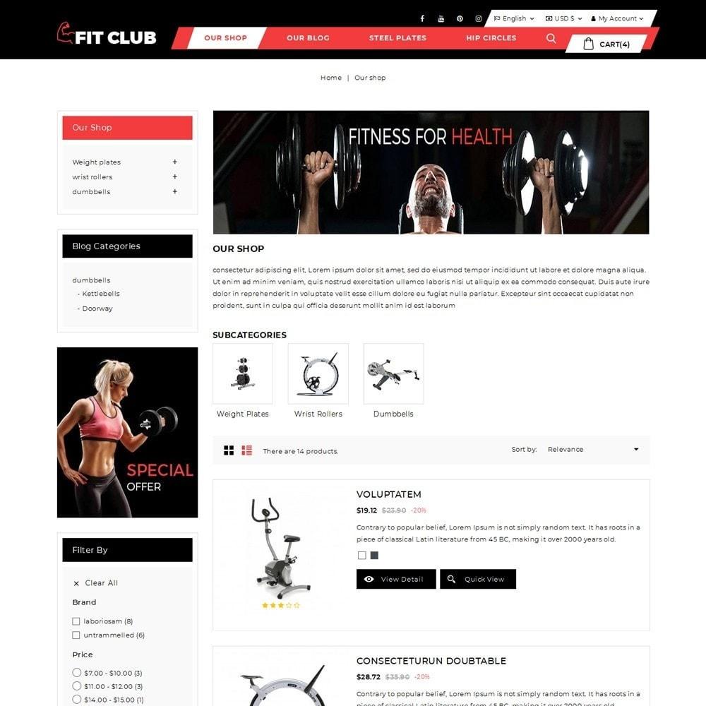 theme - Health & Beauty - Fitclub - Online Gym Store - 5