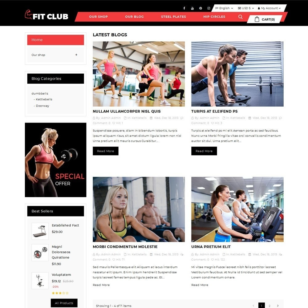 theme - Health & Beauty - Fitclub - Online Gym Store - 7