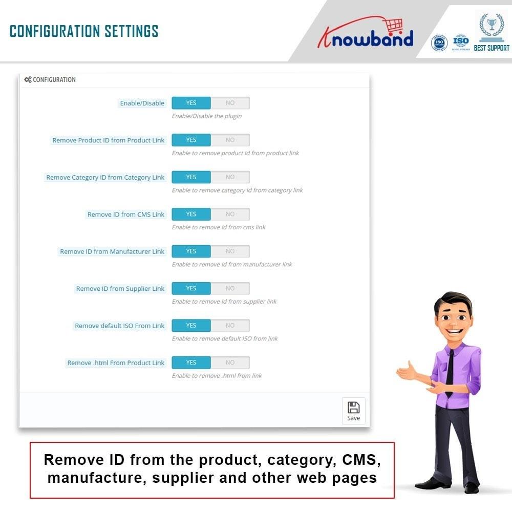 module - URL & Przekierowania - Knowband - SEO Pro - Clean URLs & 301/302/303 Redirects - 3