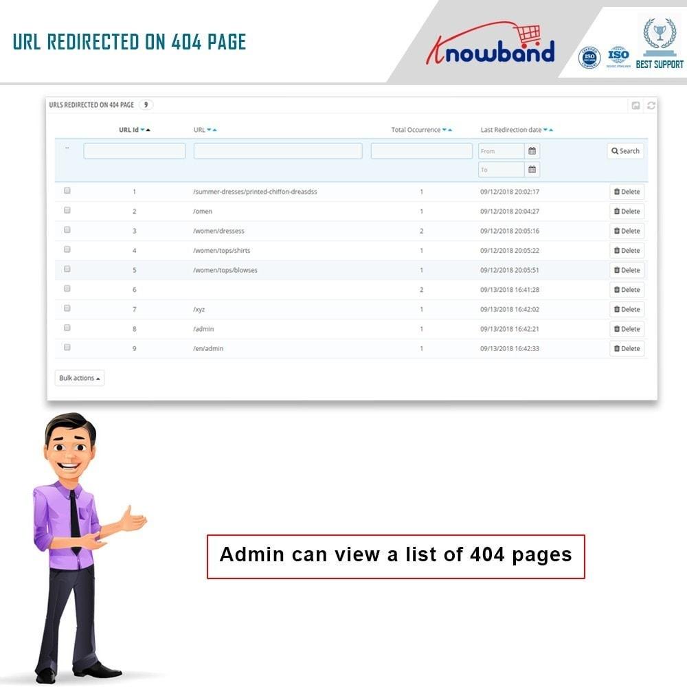 module - URL & Przekierowania - Knowband - SEO Pro - Clean URLs & 301/302/303 Redirects - 6