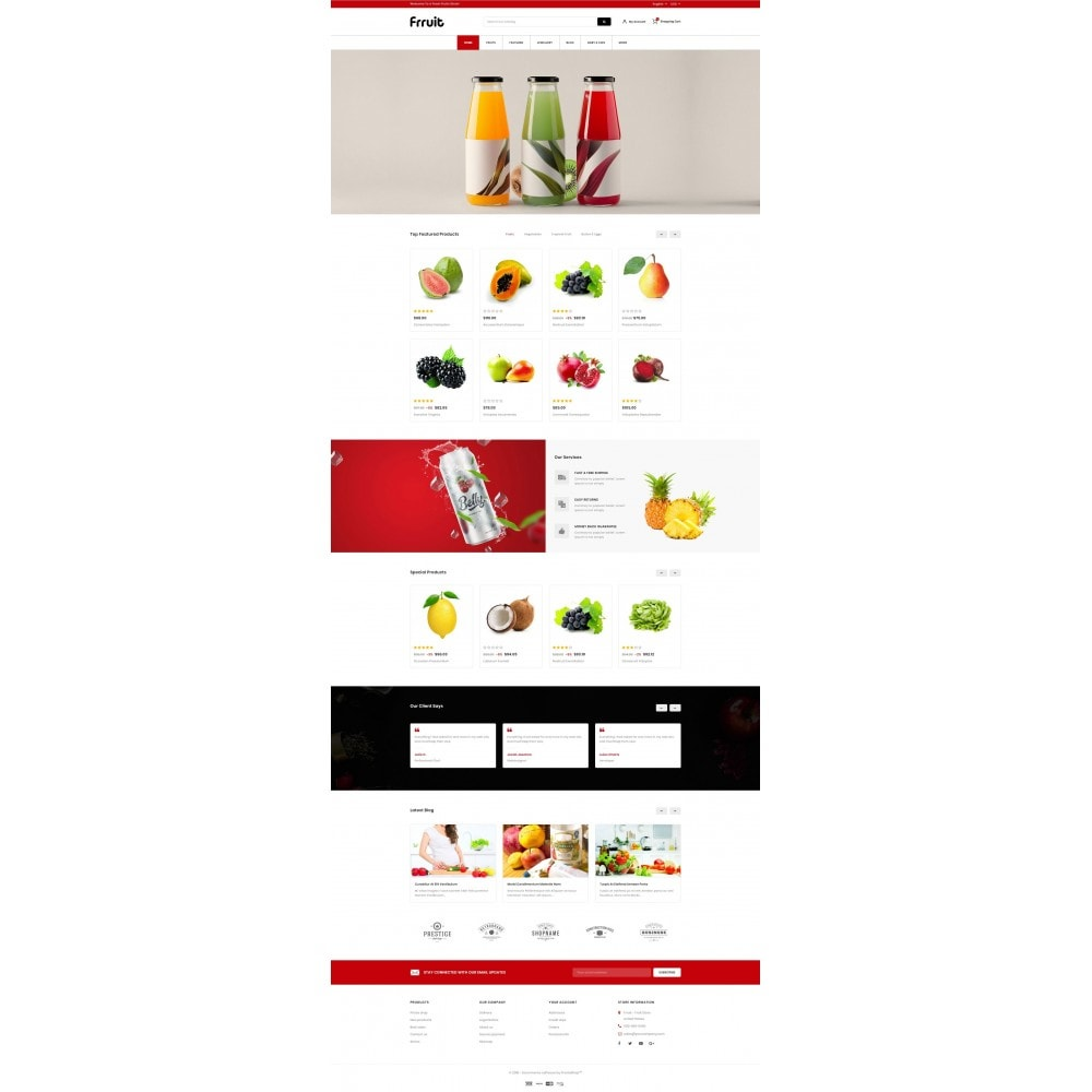 theme - Food & Restaurant - Fresh Fruits Store - 2