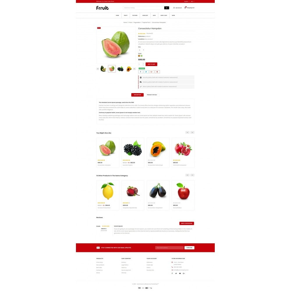theme - Food & Restaurant - Fresh Fruits Store - 5